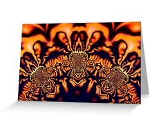 Monks Pondering Sacred Geometry  - Fractal Surreal Abstract Greeting Card