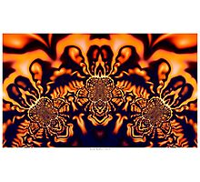 Monks Pondering Sacred Geometry  - Fractal Surreal Abstract Photographic Print
