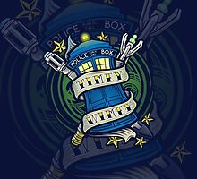 Timey Wimey (iphone case2) by Ameda Nowlin
