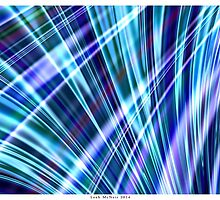 Color & Form Abstract - Blue Light Refraction by Leah McNeir