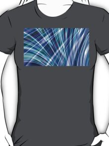 Color & Form Abstract - Blue Light Refraction T-Shirt