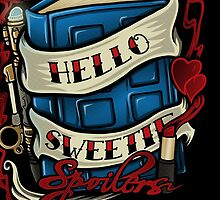 Hello Sweetie (iphone case2) by Ameda Nowlin