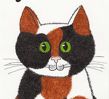 Clarice the Calico Cat Art by misadventureart