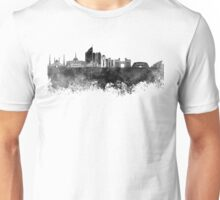 Astana skyline in black watercolor Unisex T-Shirt