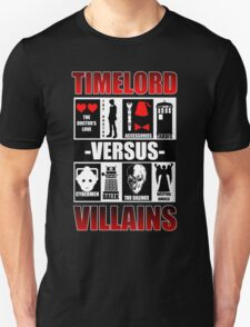Time versus Villains Unisex T-Shirt