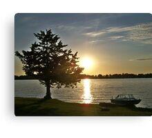 Sunset Boat Rest Canvas Print