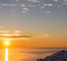 Cold Beauty - Frigid Winter Sunrise on the Lake Sticker
