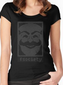 Mr  Robot   Fsociety Dat Women's Fitted Scoop T-Shirt