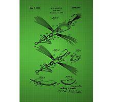 Fish Lure Patent 1933 - Green Photographic Print