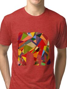 Geometric elephant Tri-blend T-Shirt