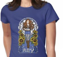 The Girl Who Waited (Amy in sunflowers) Womens Fitted T-Shirt