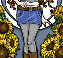 The Girl Who Waited (Amy in sunflowers) Sticker