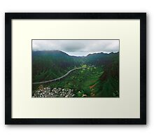 H3 And Ko'olau Range Framed Print