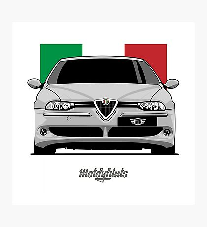 Alfa Romeo 156 GTA (gray) Photographic Print