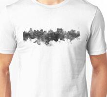 Winnipeg skyline in black watercolor Unisex T-Shirt