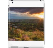Sunset over Norland moor, Halifax , West Yorkshire iPad Case/Skin