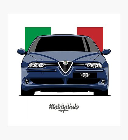 Alfa Romeo 156 GTA (blue) Photographic Print