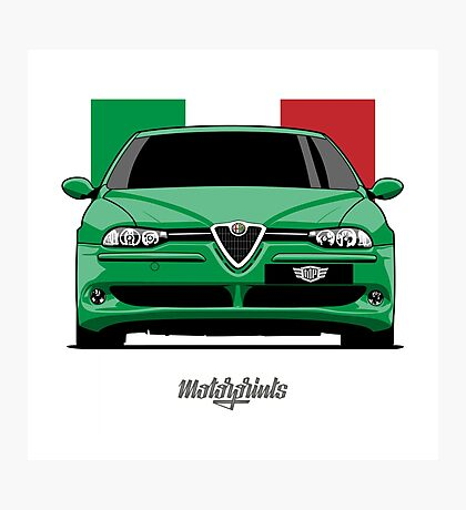Alfa Romeo 156 GTA (green) Photographic Print