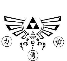 Legend of Zelda Triforce Logo Link by ChiSugoi