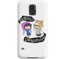 Amazingphil & Danisnotonfire cartoon Samsung Galaxy Case/Skin