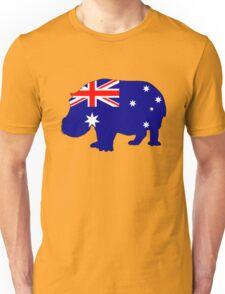 Australian Flag - Hippopotamus Unisex T-Shirt