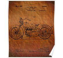 Harley Davidson Motorcycle Patent 1925 Poster