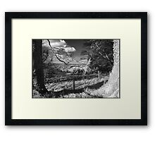 Wintery Shire Framed Print
