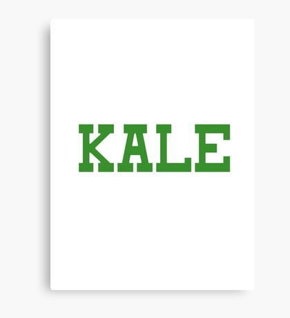 KALE University Style Logo Canvas Print