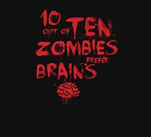 Zombie Facts Womens Fitted T-Shirt