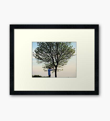 Lone Tree Plus Photographer Framed Print