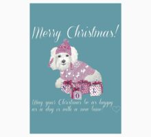 Merry Christmas from the dog / Bichon / Maltese / Bolognese Kids Tee