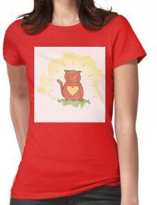 Deep Inner Smile - Bodhicatva Womens Fitted T-Shirt