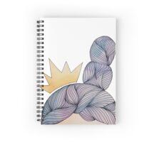 watercolour queen double bun hair with crown Spiral Notebook