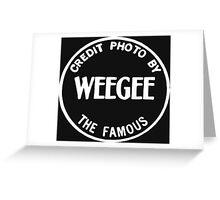 Weegee Greeting Card