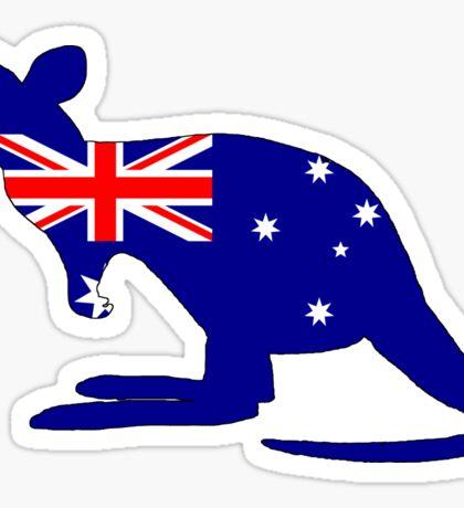 Australian Flag - Kangaroo Sticker