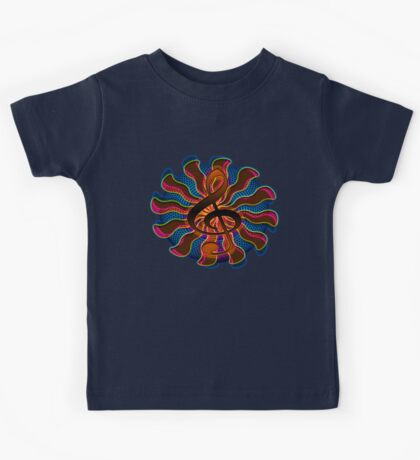 Sunset Treble Clef / G Clef Music Symbol Kids Tee