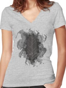 Tribal Feather Women's Fitted V-Neck T-Shirt