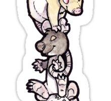 Rat Pile Cartoon Sticker