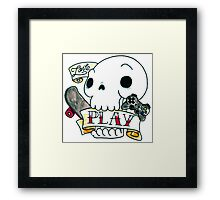 Coolavera tattoo old school Framed Print