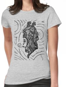 Alien woman Womens Fitted T-Shirt