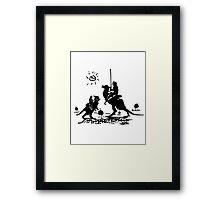 Han Quixote Framed Print