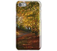 Autumn hillside iPhone Case/Skin