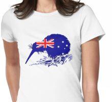 Australian Flag - Kiwi Bird Womens Fitted T-Shirt