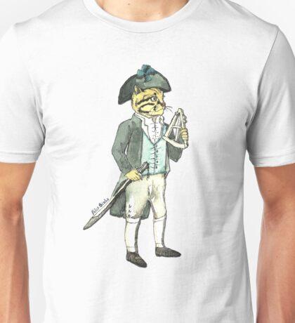 Captain Cat with a Sextant Unisex T-Shirt
