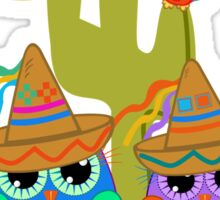Cute Sombrero Owls, patterns and  Parrots Sticker
