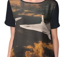 The Great White Bombers Chiffon Top