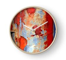 Beauty of damage abstract Clock