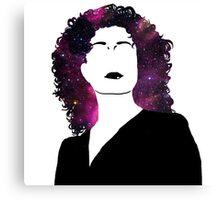 River's Space Hair Canvas Print