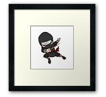 Cartoon Anime Ninja Framed Print