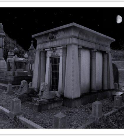 Egyptian tomb Undercliff cemetery Sticker